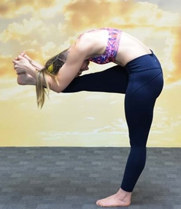 how to do standing head to knee pose  bikram yoga glen